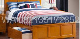Tempat Tidur Sorong Minimalis