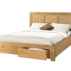 Tempat Tidur Berlaci Kayu Jati Minimalis